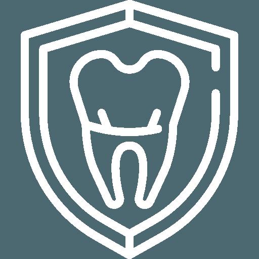 icona dente con scudo