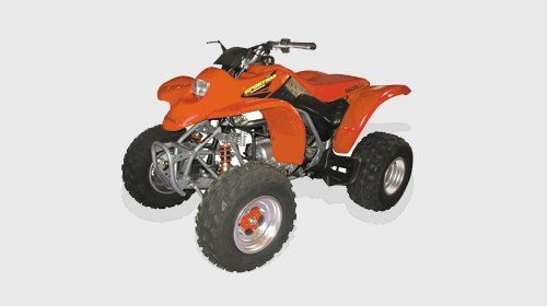 A red quad bike