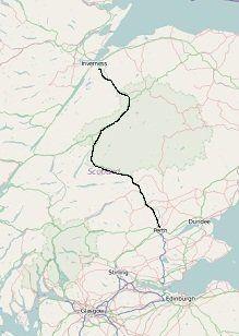 a9 main road through the highlands