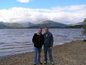 On the shore at Loch Lomond