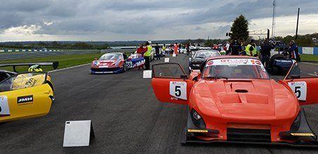 several racing cars