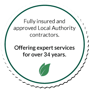 Fully insured and approved local authority contractors logo