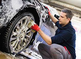 Wheel cleaning service