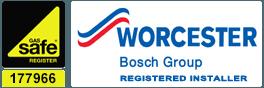 Gas Safe logo, Worcester logo