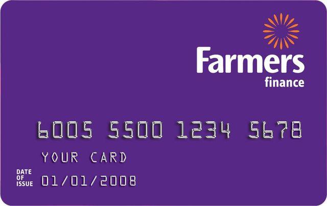 Farmers finance card