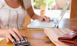 Woman Checking Her Account Online U2014 Budget Rent A Space In Keizer, OR