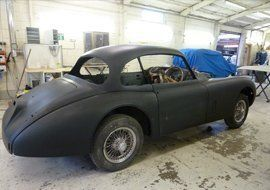 vintage car for maintenance