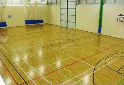 sports court line markings indoor