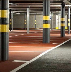 indoor car park line markings, parking bays