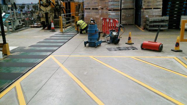 indoor floor markings for factories & warehouses