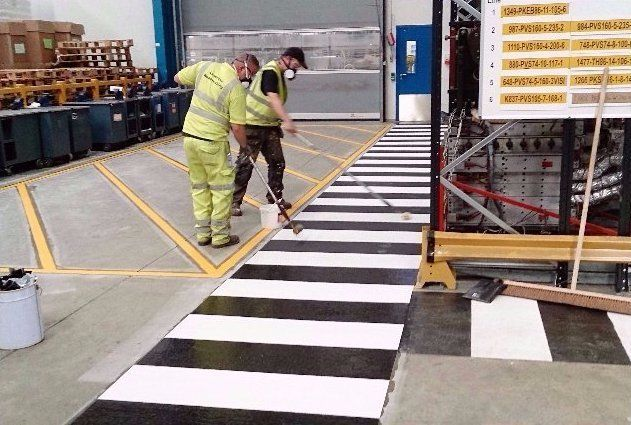 indoor factory floor safety markings