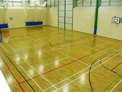 indoor Sports court with line markings