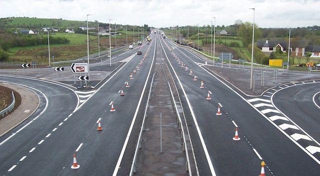road line markings chevron markings