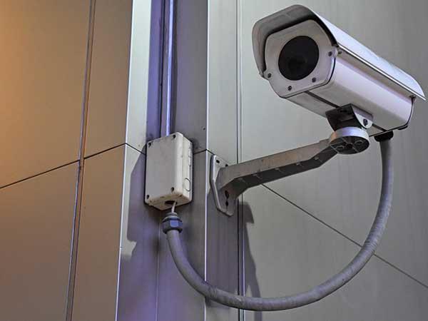 una videocamera di sorveglianza
