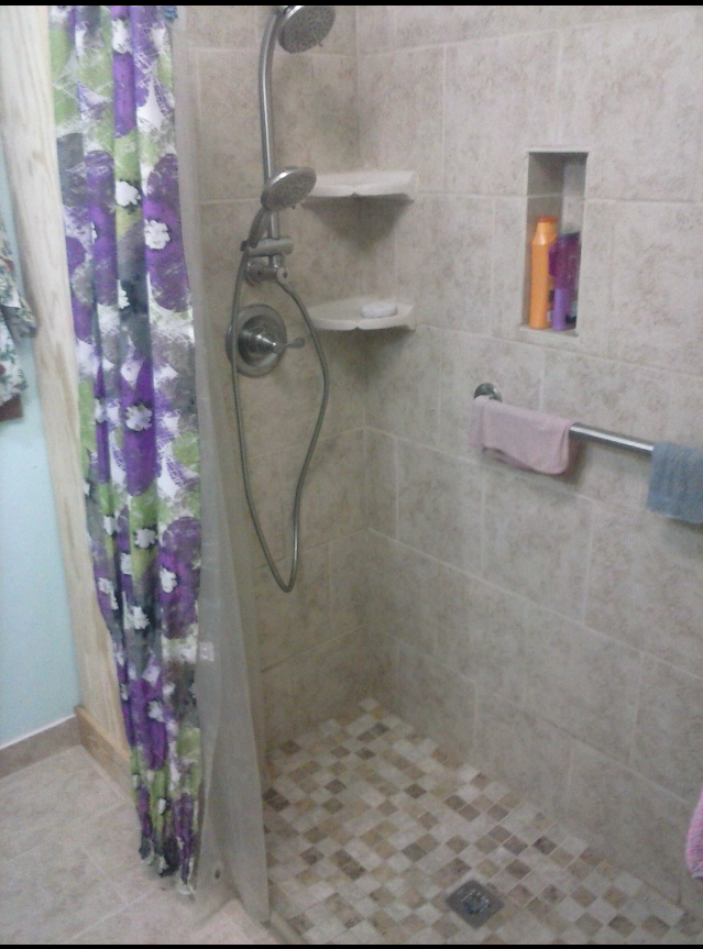 A shower after our bathroom renovations in North Little Rock, AR