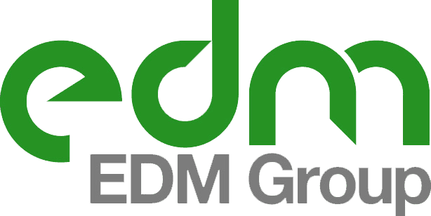 EDM Group green and grey logo