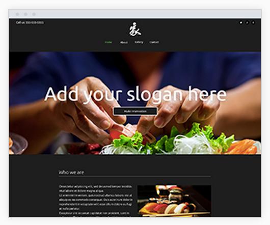sushi restaurant website