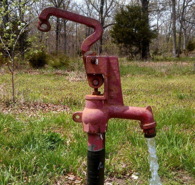 Water pump pumping water