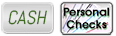 Cash and personal check icons