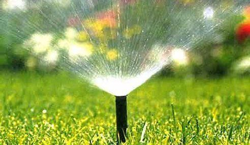 One of a variety of irrigation sprinklers in Fairfield, OH