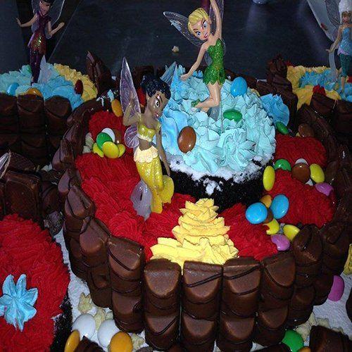 decorazione torta con campanellino del cartone Peter Pan