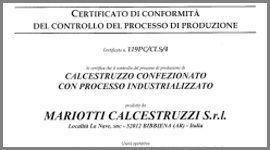 calcestruzzo certificato