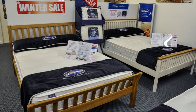several beds
