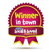 Winner in town graphic