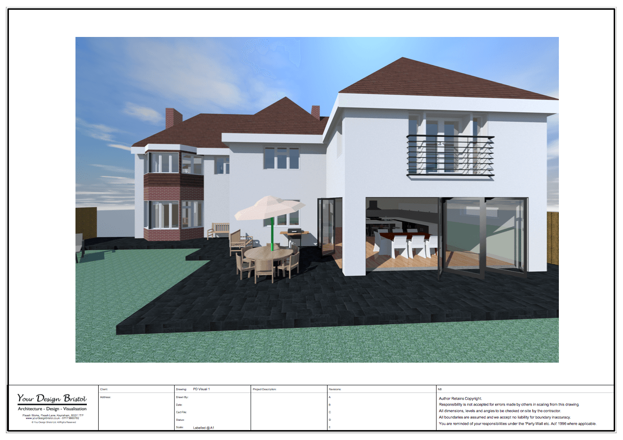 Two Storey Extension Design Drawings And Visualisation