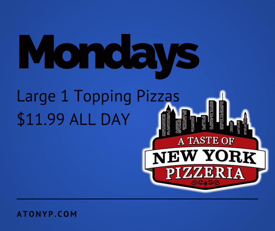 monday pizza special