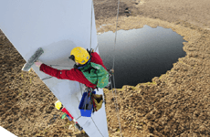 abseil cleaning