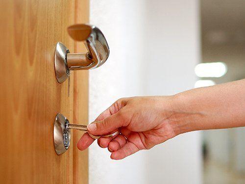 View of door locks