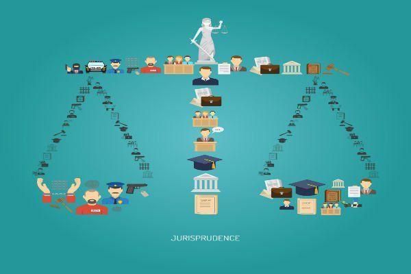 Moderna icona della bilancia della giustizia e la sua significazione