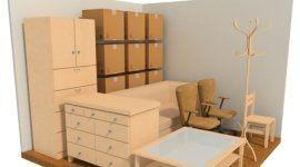 stanza e mobili in 3d