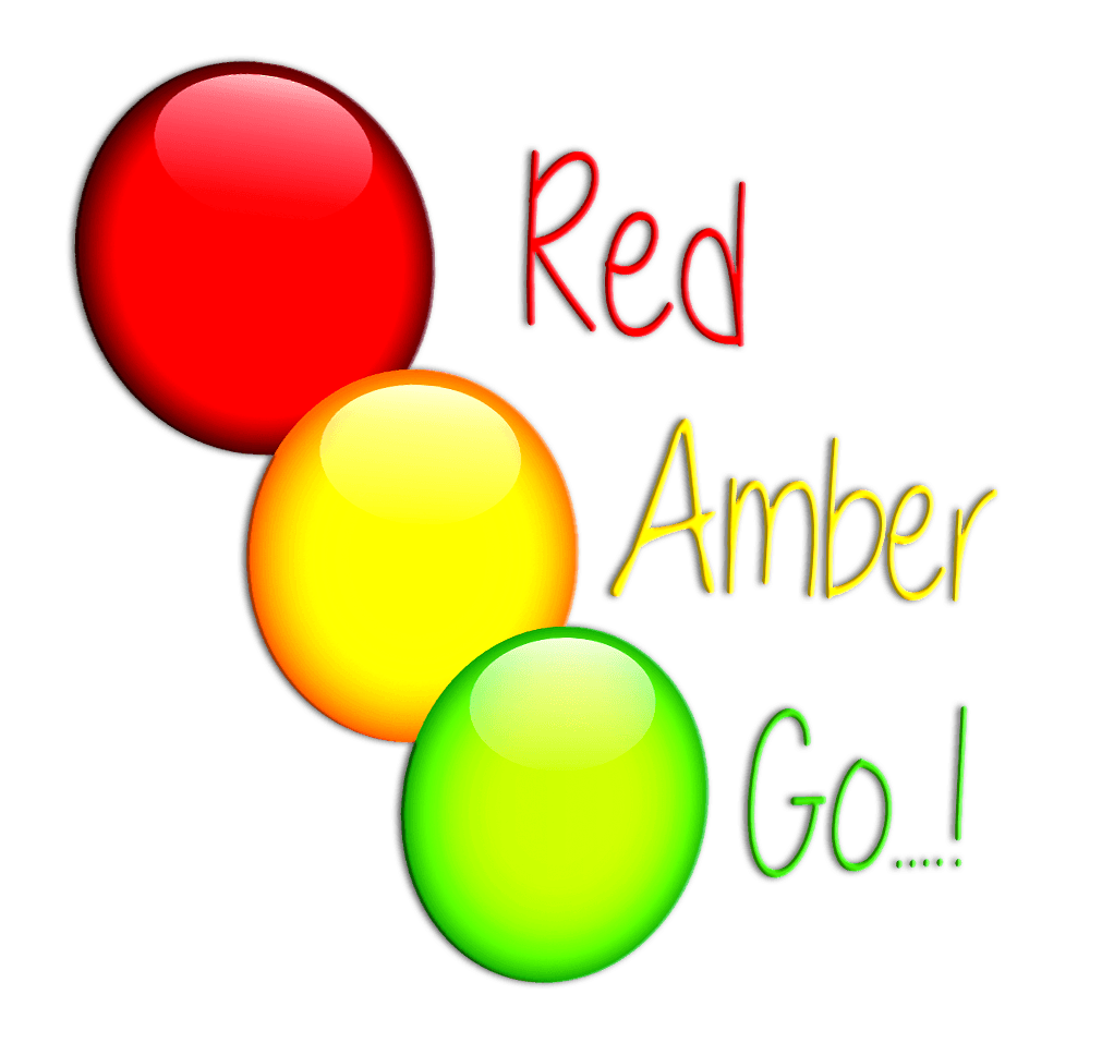 Red amber go logo