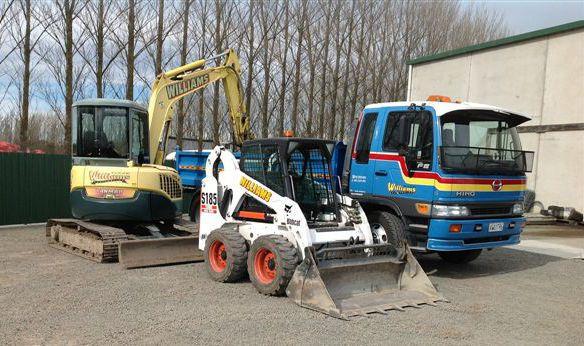 Earth works professional using machine in the Waimakariri district