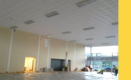 Large empty room in a commercial building