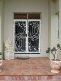 decorative glass door