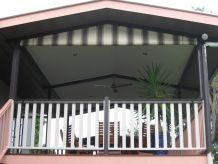 awning with cord and pulley