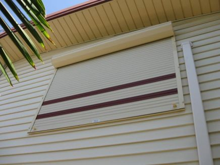 rolled down shutters
