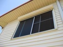 rolled up roller shutters
