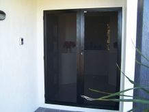 door made of stainless steel