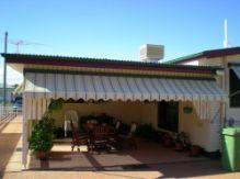 shade providing awning