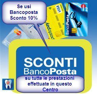 Sconti e i pagamenti con vantaggi usando bancoposta