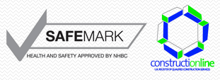 The Safemark and Constructionline logos