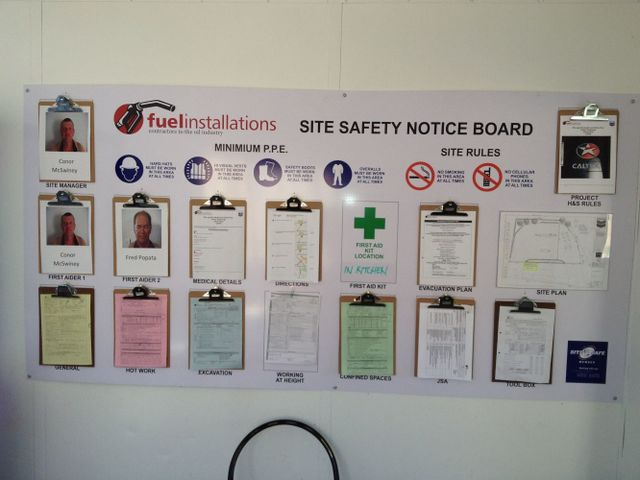 safety notice board about fuel pumps in New Zealand