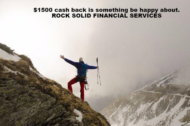 Investor refinance CASH BACK!