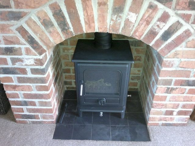 efficient fireplace installation