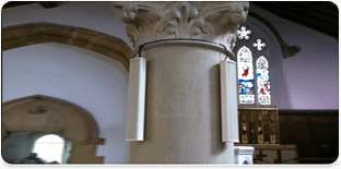 Image showing public address system in a church installed by Simcol Communications in Wales