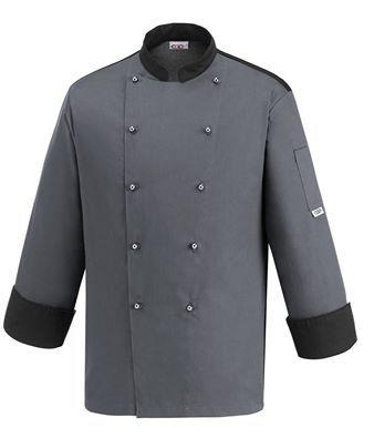uniforme grigia da chef